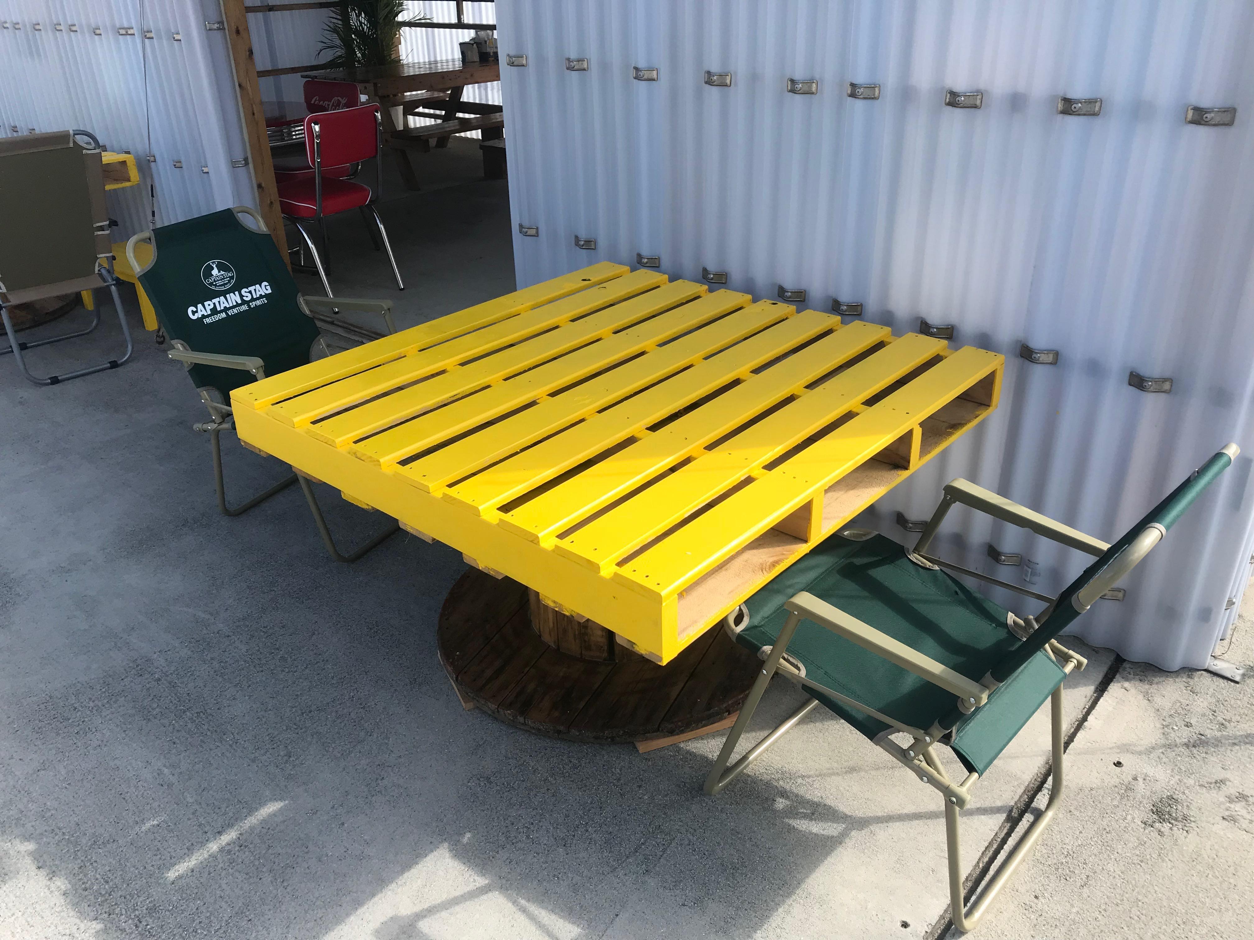 木製パレットテーブル