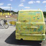 サイクリング客の為のサイクルラック。安心して駐輪出来ます。
