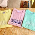 波をイメージしたシンプルなデザイン 新発売 kumejima shirts Tシャツ販売しています!