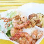 【地産地消】高級食材 生産量日本一 久米島産車海老を使ったガーリックシュリンプ シークワーサーとガーリックの香りが食欲をそそります!